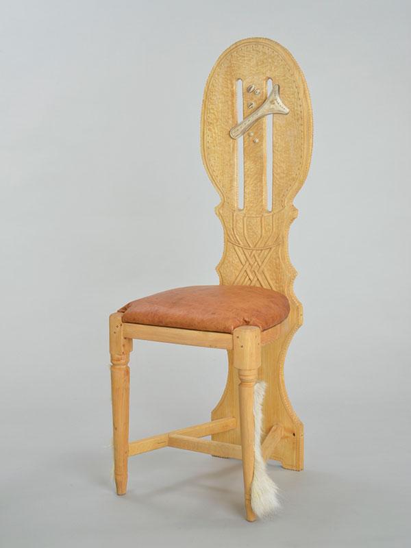 Samiskt hantverk stol