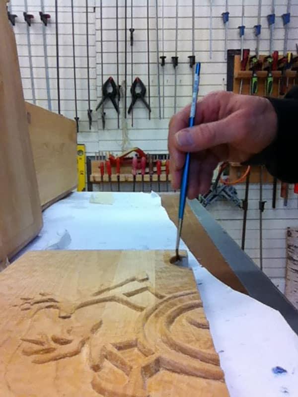 Samiskt hantverk skåp